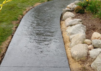 Holland Concrete Contractor | Stamped Concrete | Stained Concrete Walkway