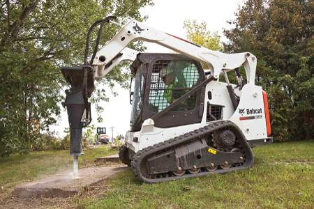 Concrete Removal with Bobcat