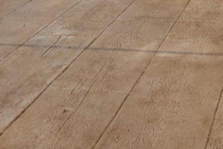 Stamped Concrete Floor | Vintage Barn Wood Replication