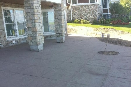 Stamped Concrete Patio appearing as large tiles