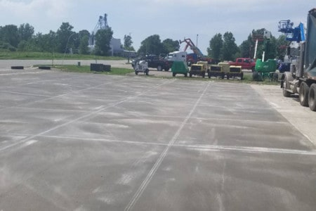 Concrete Slab for Equipment & Fleet parking